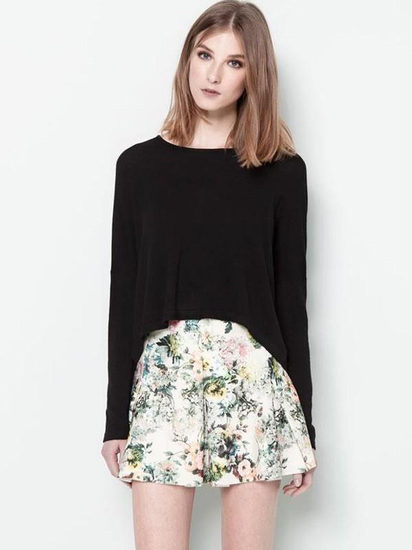 wiosenna spodniczka litera a i bluzka luzna