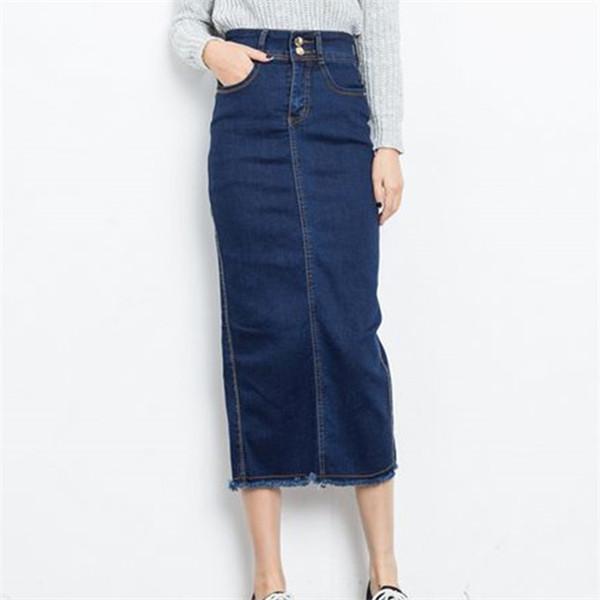 spodnica-jeansowe-dluga-prost-olowkowa