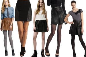 stylizacje ze spódnicami skórzanymi