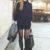 Klasyczna czarna mini spódniczka